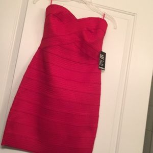 Express NWT Red Strapless Bandage Mini Dress